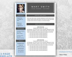 Teacher Resume Template for Word - Teaching Resume Template Word - Resume  Cover Letter Template -