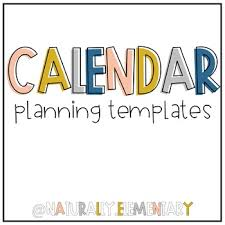 Group Planning Calendar Editable Year Long Calendar Planner