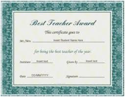 best teacher award template top performer certificate template marvelous best teacher award