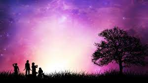 Star Childhood Romantic Background For ...