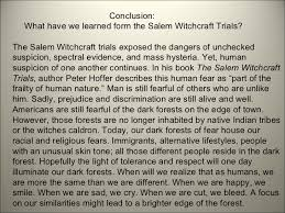 m witchcraft trials  9 conclusion what have we learned form the m witchcraft trials