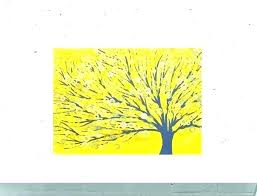 yellow and grey painting wall decor ideas arts white gray de