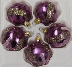 Feinster Christbaumschmuck Aus Glas Weihnachtskugeln Weihnachtsbaumschmuck Lila