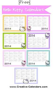 Annual Calendar 2015 Free Printable Hello Kitty Calendars Monthly And Annual