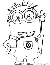 Coloring Pages Minion Coloring Pages Kevin Ideas Free Printable