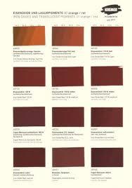 990005 Kremer Colour Chart Iron Oxide Colours