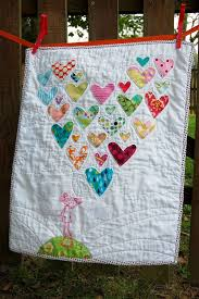 55 best We ♥ Quilts! images on Pinterest | Projects, Carpets and ... & Baby Quilt- Make the hearts using material from some of the faves from her  Baby Adamdwight.com