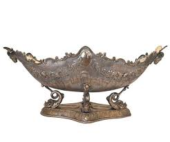 Large Silver Decorative Bowl Antique Large Silver Plated Centerpiece Bowl For Sale At 100stdibs 35