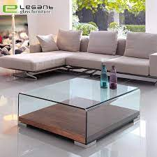 china curved glass center tables with
