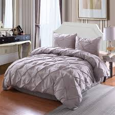 Nordic Design Bedding 2019 Nordic Style Stitching Bedding Pinch Pleat Comforter Set All Season Pintuck Style Hot Sale High Quality 2019 New Pattern Duvet Cover From Shutie