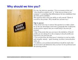 why should we hire you interview question baldor electric company interview questions and answers