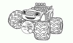 Funny Blaze The Monster Truck Coloring Page For Kids Transportation