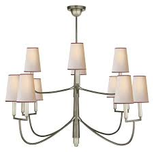 thomas o brien farlane large chandelier bronze with antique brass