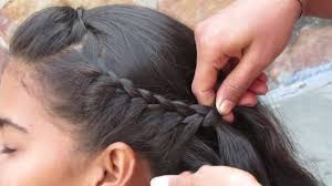 Hair Style Simple simple side french braid hair style youtube 8780 by wearticles.com