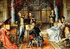 Image result for مدلهای نقاشی اشرافی فرانسوی