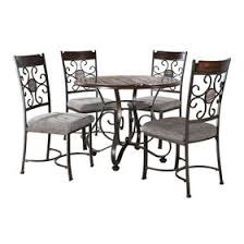 milan pc dining set  piece milan faux marble dining set
