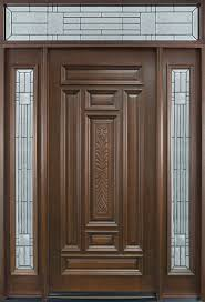 Entry Door In Stock Single With Sidelites Solid Wood With Woodwork