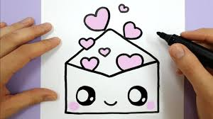 Cute And Easy Drawings How To Draw A Cute Envelope With Love