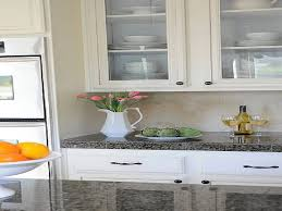 white cabinet doors with glass. Chic White Kitchen Cabinet With DIY Glass Doors Interior Design - GiesenDesign