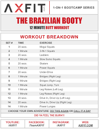 the brazilian booty workout routine home boot c