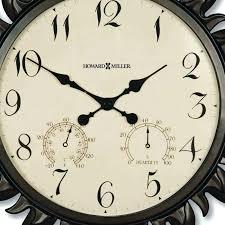 indoor outdoor wall clock miller oversize sunburst ii slate