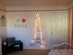 Lit Eiffel Tower for my daughter's Paris themed room!