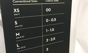 Chicos Size Chart Image 0 1 Conversion Coreyconner