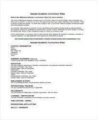 Curriculum Vitae Tamplates 11 Academic Curriculum Vitae Templates Pdf Doc Free Premium