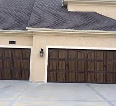 brown garage doorsTonys Garage Door Springs Repiar Pekin Peoria