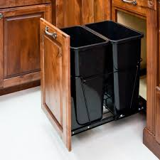 pullout trash can. Contemporary Trash Amazoncom 35Quart Double PullOut Waste Container System2 Cans Included  U0026 Doorkit Home Kitchen Inside Pullout Trash Can S