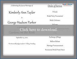 Wedding Programs Template Free Free Wedding Program Templates Lovetoknow