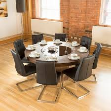 dining room cool  chair table extendable round pedestal modern