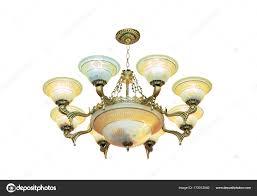 Großer Kristall Kronleuchter Im Barockstil Isoliert Auf Weiß