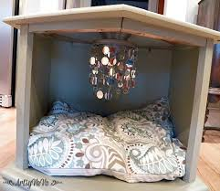 pet bed furniture. Repurposed Side Table To Posh Pet Bed Hometalk Furniture
