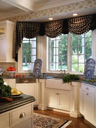 black white cottage kitchen with a sink