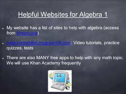 welcome to algebra project connect themes similarities and  helpful websites for algebra 1 my website has a list of sites to help algebra