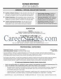 Volunteer Resume Samples Lovely Special Education Resume Samples