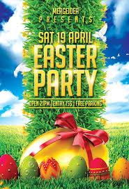 Easter Party Flyer Template Mergeidea
