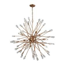 titan lighting serendipity 9 light matte gold with clear bubble glass chandelier