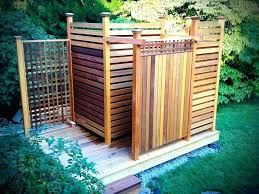 outdoor shower enclosure kit canada wood
