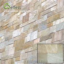 hot ing yellow wood slate flat tile pattern for exterior wall