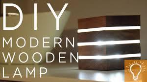 Diy Modern Wooden Led Lamp Youtube
