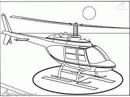 Kleurplaat Politiehelikopter