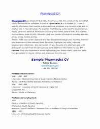 Pharmacy Curriculum Vitae Crafty Ideas Hospital Pharmacist Resume Cv Toreto Co Professional 11