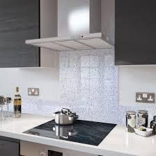 White Galaxy Granite Kitchen White Granite Galaxy Glass Splashback 60cm X 75cm Toughened