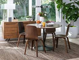 mid century dining room with vespa dining table