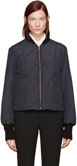 See by Chloe See by Chloé Navy Quilted Bomber Jacket | Where to ... & ... See by Chloe See by Chloé Navy Quilted Bomber Jacket Adamdwight.com