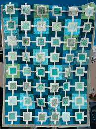 121 best Cool Color Quilts images on Pinterest | Quilt block ... & Love the colors of this non-traditional quilt. Adamdwight.com