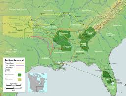 n removals oxford research encyclopedia of american history map of southeastern n removal