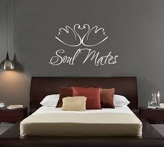 swans animal wall decal quotes soul mates vinyl wall stickers master bedroom headboard home decor wedding on vinyl wall art for master bedroom with swans animal wall decal quotes soul mates vinyl wall stickers master